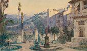 Vasily POLENOV. Don Silva's garden in Cordoba. Act I. 1885
