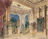 Vasily POLENOV. Hall in the magic castle. 1883