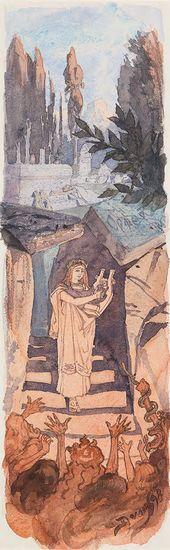 Vasily POLENOV. Orpheus Descending to the Kingdom of the Underworld. 1898