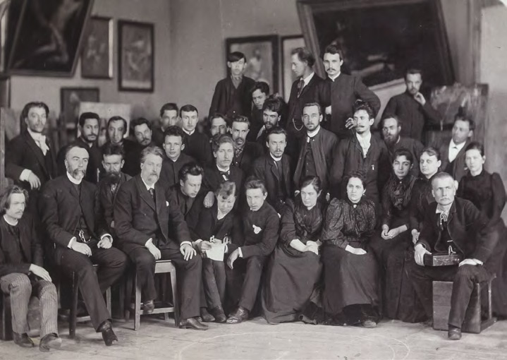 Students and teachers of the Moscow School of Painting, Sculpture and Architecture. 1891–1892