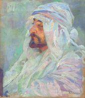 Alexander GOLOVIN. Portrait of Yeghishe Tatevosyan in Bedouin Headdress. 1890s