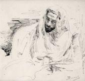 Vasily POLENOV. Levitan in Bedouin Clothing. 1887