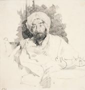 Sergei VINOGRADOV. Levitan in Bedouin Clothing. 1889