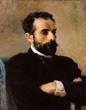 Vasily POLENOV. Portrait of Isaak Levitan. 1891