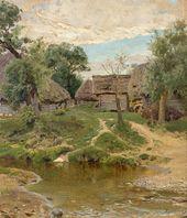 Vasily POLENOV. Turgenevo Village. 1885. Study