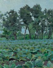 Viktor BORISOV-MUSATOV. Cabbages and White Willows. 1894. Study