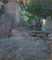 Yegishe TATEVOSYAN. Yard with Pigeons (A Yard in Byurakan). 1898. Study