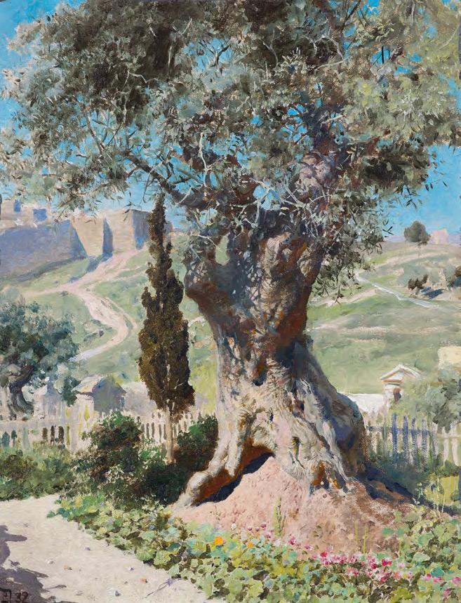 Vasily POLENOV. An Olive Tree in the Garden of Gethsemane. 1882