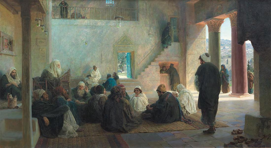 Vasily POLENOV. Christ Among the Doctors. 1896