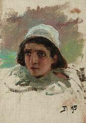 Vasily POLENOV. Head of a Boy. 1895