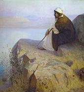 Vasily POLENOV. Dreams (On the Hill). Second half of the 1890s-1900s