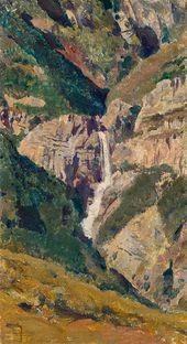 Vasily POLENOV. Crimea. The Uchan-su Waterfall. 1887