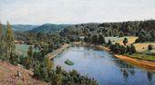 Vasily POLENOV. The Oyat River. 1886
