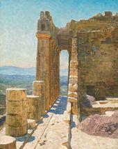 Vasily POLENOV. The Parthenon. 1911. Study