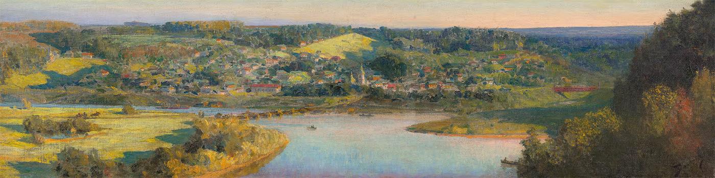 Vasily POLENOV. A View of Tarusa. 1910s