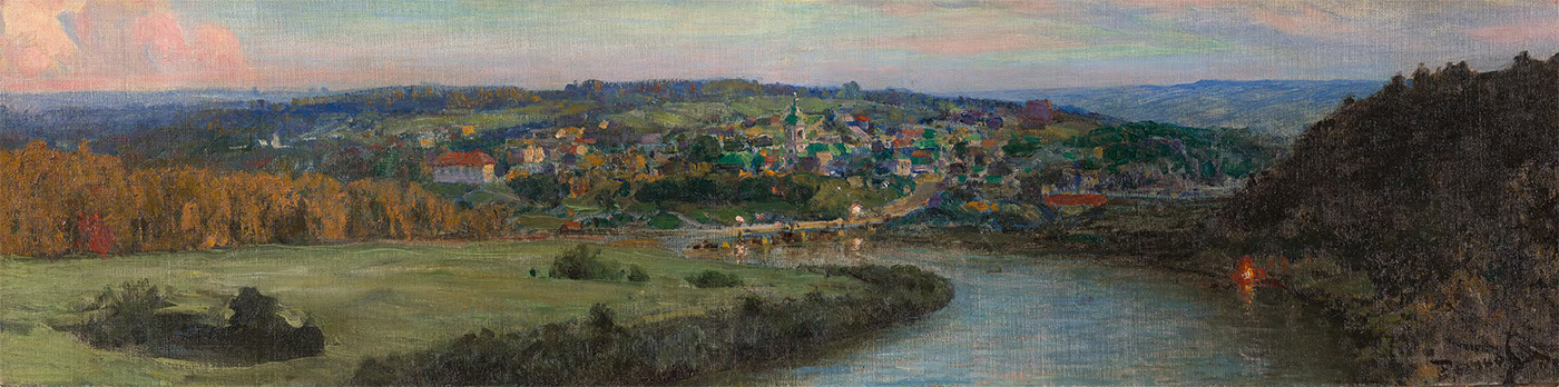Vasily POLENOV. A View of Tarusa in the Evening. 1910s