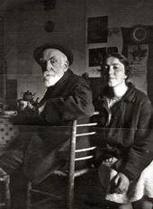 Vasily Polenov with his daughter Natalya. 1925