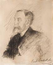 Paolo TRUBETSKOI. Portrait of Vasily Polenov. 1901