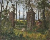 Vasily POLENOV. An Old Gate. Veules, Normandy. Sketch. 1874