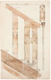 Vasily POLENOV. Detail of Stair Banister. Sketch. Early 1890s
