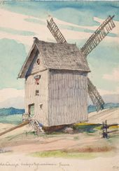 Vasily POLENOV. A Windmill. 1918
