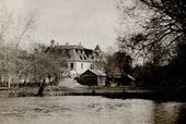 The Polenov House of Theatre Education. View from the Moscow Zoo pond. 1916–1928