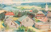 Vasily POLENOV. A Provincial Town (Tarusa). 1910s