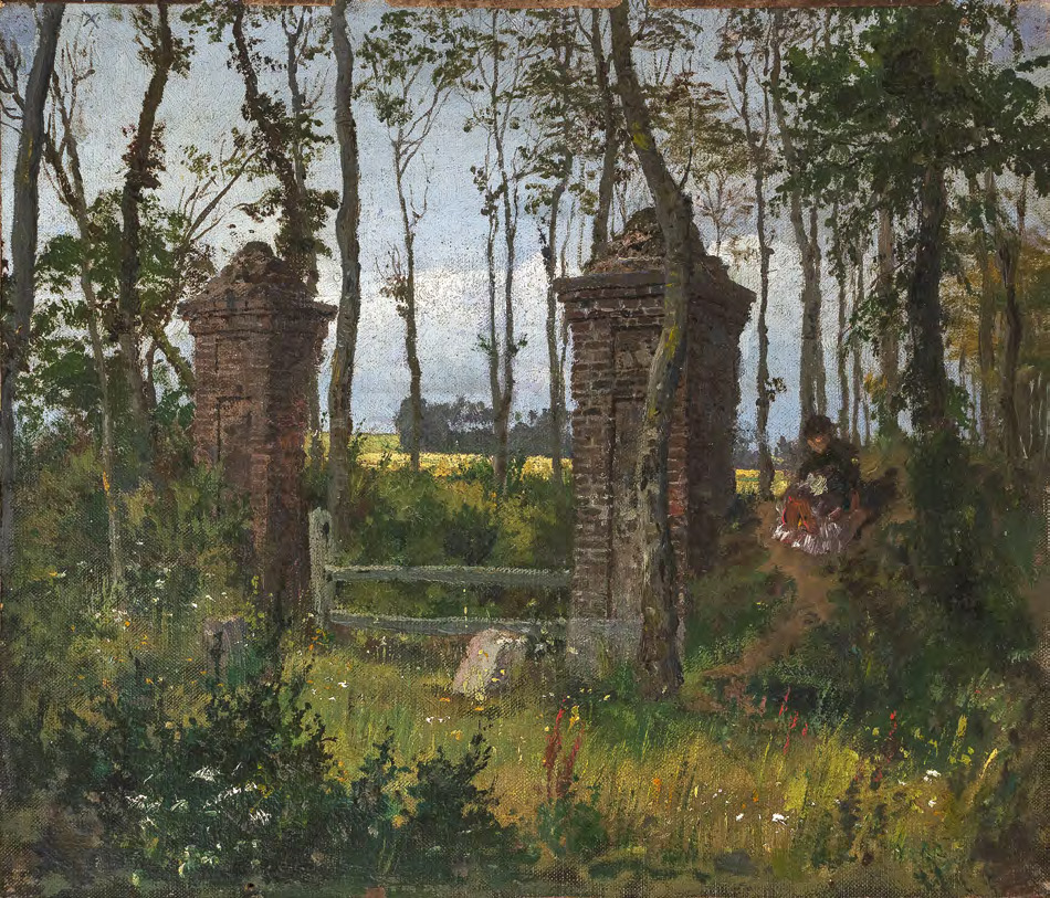 Vasily POLENOV. An Old Gate. Veules, Normandy. 1874
