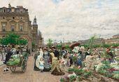 François-Marie FIRMIN-GIRARD. Le Quai aux fleurs. 1876