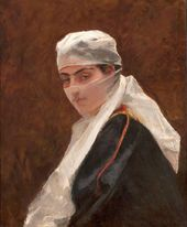 Domenico MORELLI. Woman with a Veil (Donna velata (Odalisca)). 1873
