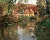 Frits TAULOW. The River at Manéhouville, Normandy