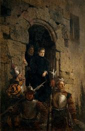 Vasily POLENOV. Arrest of the Huguenote Jacobine de Montebel, Countess d'Etremont. 1875