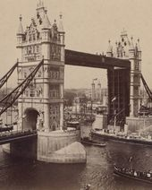 Tower Bridge, London. Photograph. 1890s