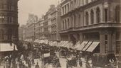 Cheapside, London, looking west. Photograph. 1890s
