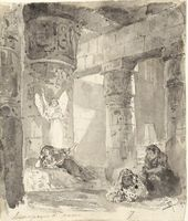 "Vasily POLENOV. Prison. Sketch for a stage set for Savva Mamontov's play ""Joseph"". 1880"
