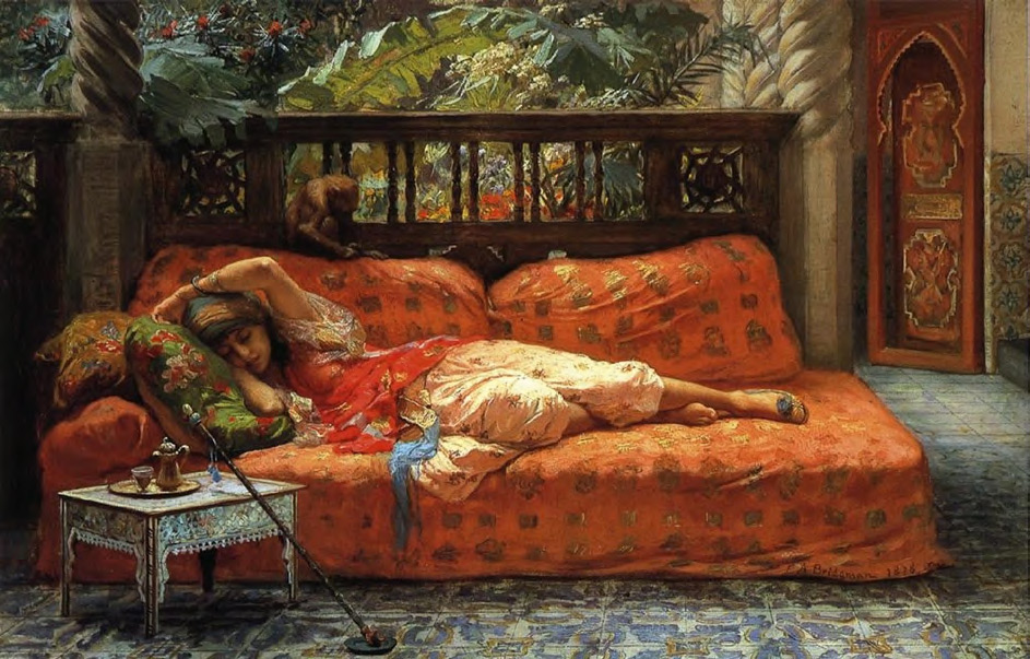 Frederick Arthur BRIDGMAN. The Siesta. 1878