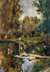 Valentin SEROV. A Small Pond. Abramtsevo (Upper Pond at Abramtsevo). 1886