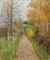 Konstantin KOROVIN. Autumn. Alley in Zhukovka. 1888