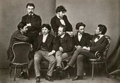 Group of graduates of the Academy of Arts. 1871