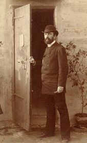 Vasily Polenov in Rome. 1884. Photograph