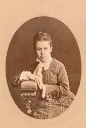 Vera Khrushcheva (née Polenova). 1870s
