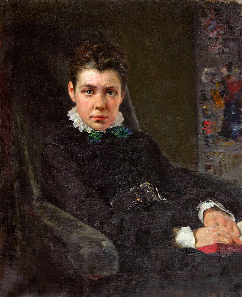 Vasily POLENOV. Portrait of the Artist's Sister, Vera Khrushcheva. 1874