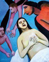 Tatyana NAZARENKO. The Woman and the Birds. 2016
