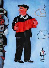 Alexei NOVIKOV. Harmonica Player in Sablino. 1995
