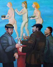 Tatyana NAZARENKO. Men with Vodka. Dreams. 2018