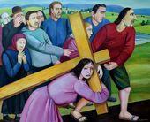 Tatyana NAZARENKO. Carrying the Cross. 2016