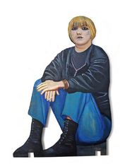 """Tatyana NAZARENKO. Figure from the """"Underpass"""" installation. 1995–1996"""