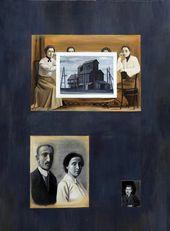 """Tatyana NAZARENKO. """"Family Album"""" series. First Page of the Album. 2010"""