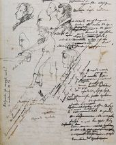 "Alexander PUSHKIN. Autograph of the manuscript of the poem ""Why were you sent..."" Draft. 1824"