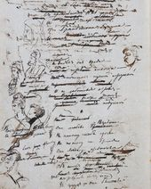 "Alexander PUSHKIN. Autograph of the manuscript of the novel ""Eugene Onegin"", Chapter 2. Draft. November-December 1823"